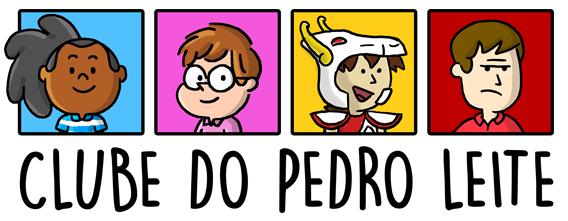 quatro personagens, com traços simples, acima dos dizeres 'clube Pedro Leite'
